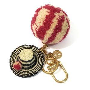 Pom Straw Keychain